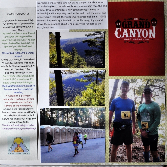 David's running book
