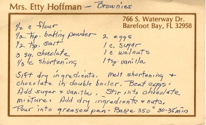 Mom's brownie recipe